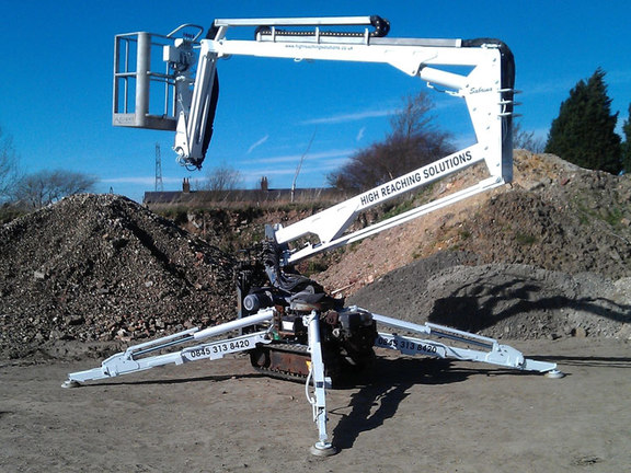 Sabrina 15m tracked spiderlift cherrypicker from High Reaching Solutions Malton York