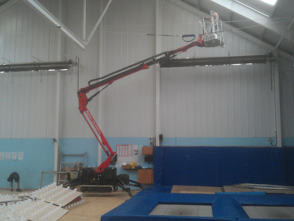 Sophie 18m tracked spiderlift cherrypicker from High Reaching Solutions Malton York